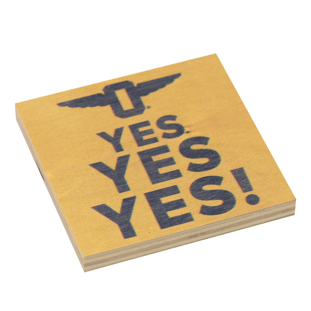 "Yes! Yellow Magnet (3"" x 3"")"