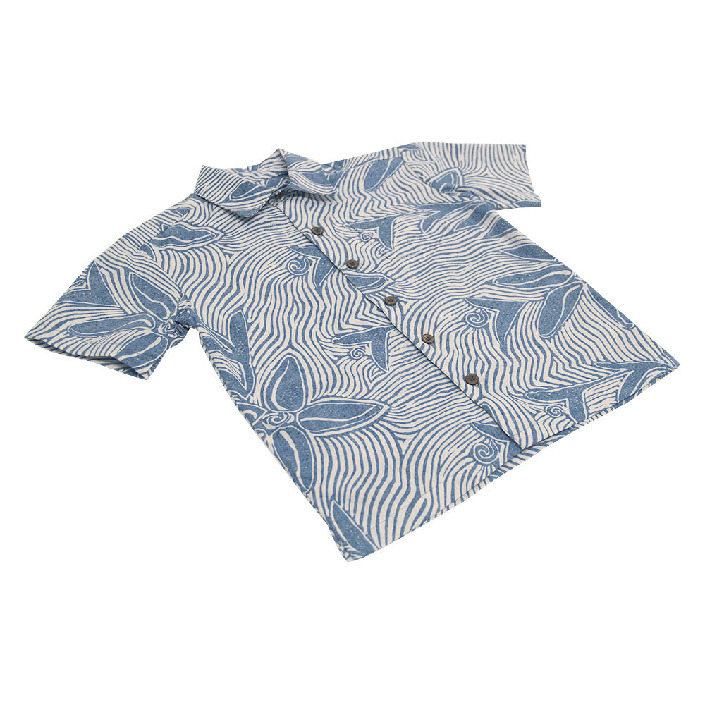 Youth Coral Star Aloha Shirt