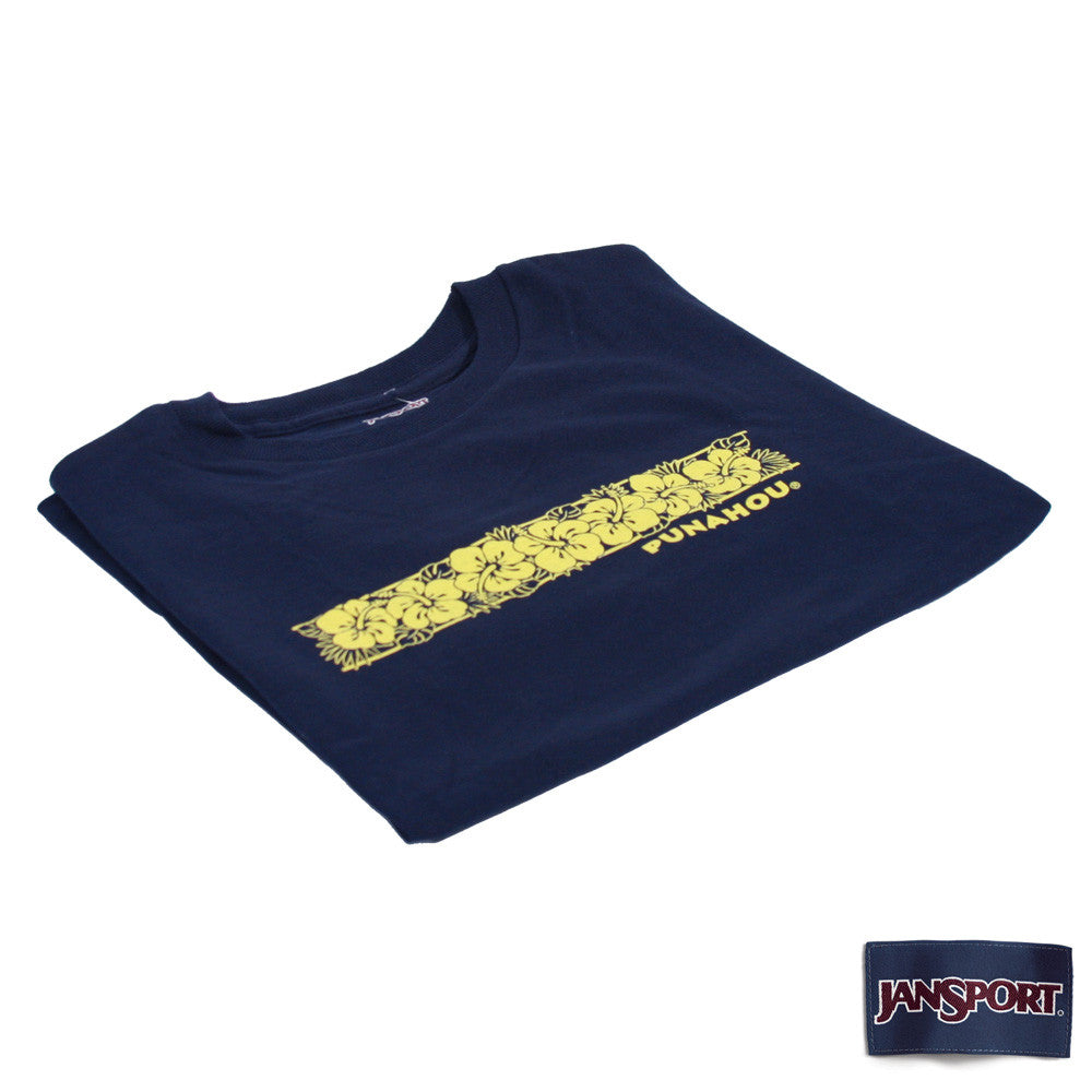 Youth Hibiscus Tee (Navy)
