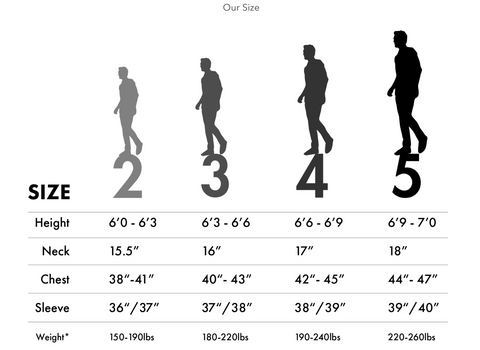 William Mahoney Size Chart