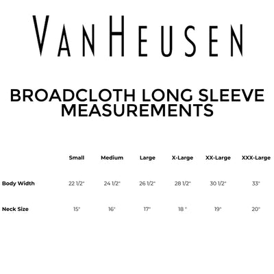 Van Heusen - Broadcloth Long Sleeve Dress Shirt