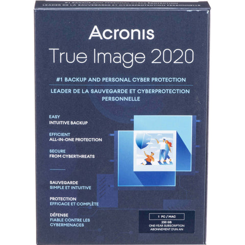 ACRONIS TRUE IMAGE 2020 BACKUP & RECOVER 1-USER 1YR BIL - Choice Computer Technologies