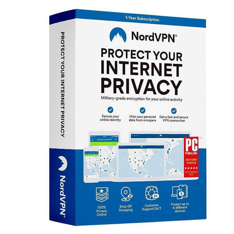 NordVPN Internet Privacy Software - 12 month subscription (6 Devices) - Choice Computer Technologies