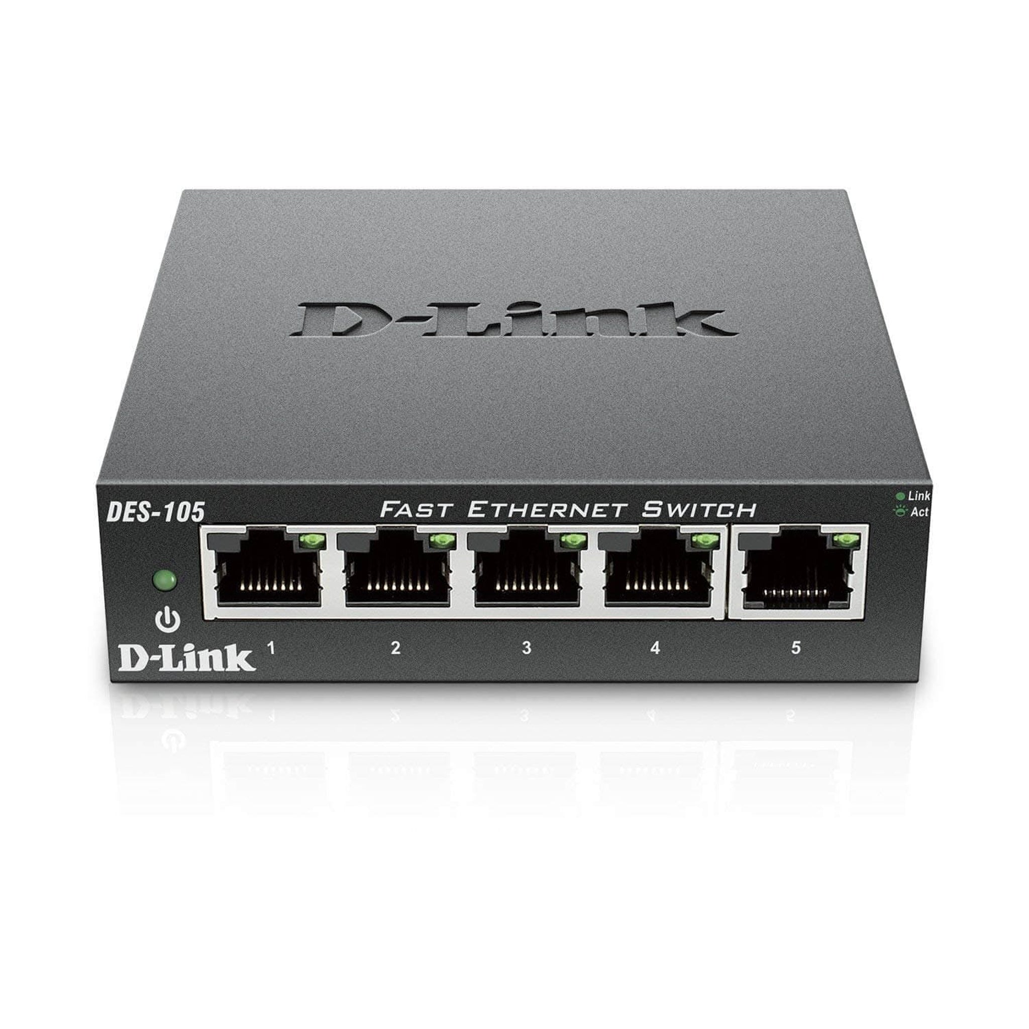 D-Link SWT DES-105 5-Port 10/100 Switch - Choice Computer Technologies