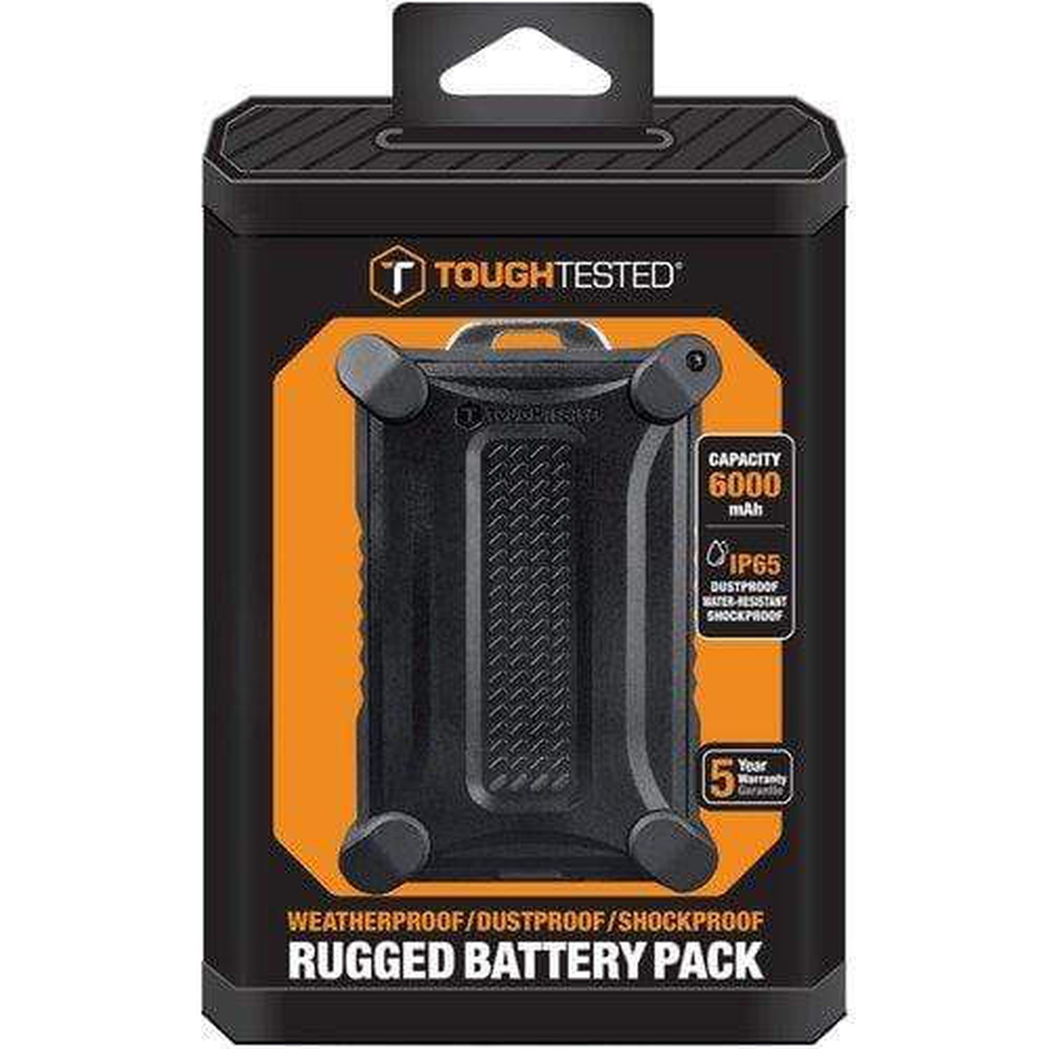 TOUGH TESTED 6000MAH POWERBANK RUGGED WATER RESISTANT IP65 - Choice Computer Technologies