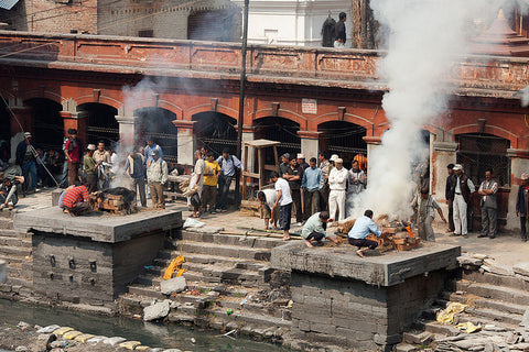 Pashupatinath - Cremations by Greg Willis