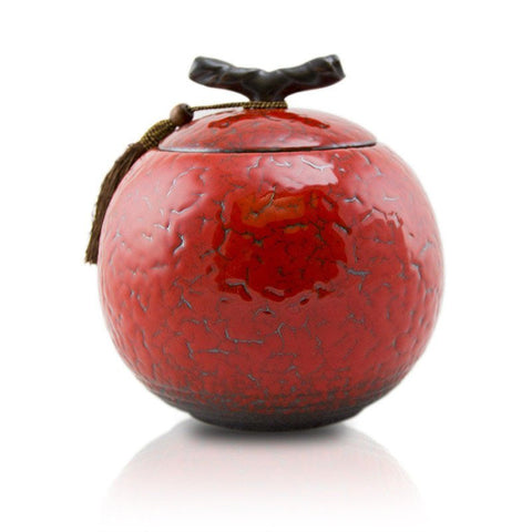 Cherry ceramic medium sized cremation urn