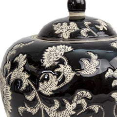 Black Lotus Cremation Urn