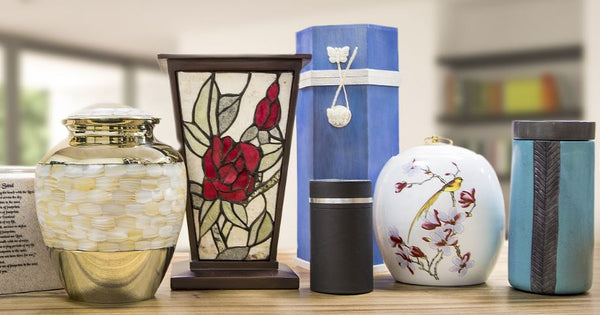OneWorld Memorials selection of cremation urns.