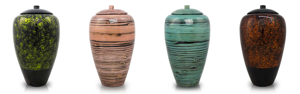 Tall Bamboo Cremation Urns