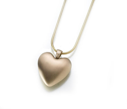 Bronze Heart Memorial Necklace