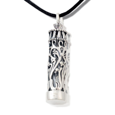 Cremation jewelry oneworld memorials sterling silver and glass cremation pendant aloadofball Gallery