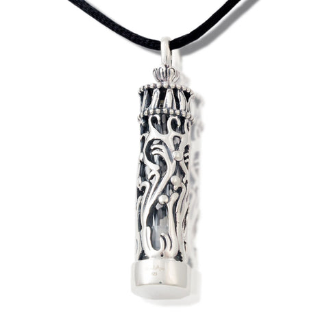 Sterling Silver and Glass Cremation Pendant