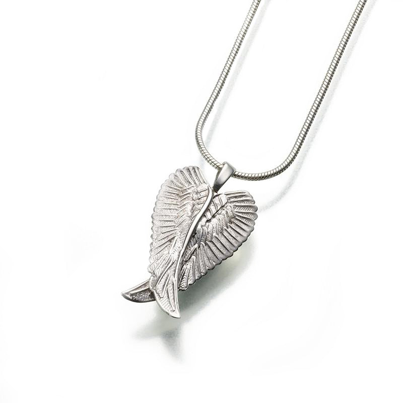 Silver Angel Wings Memorial Necklace