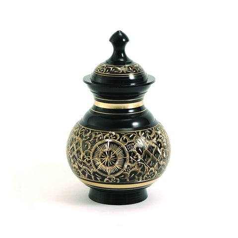 Timeless Black Pet Cremation Urns - Extra Small