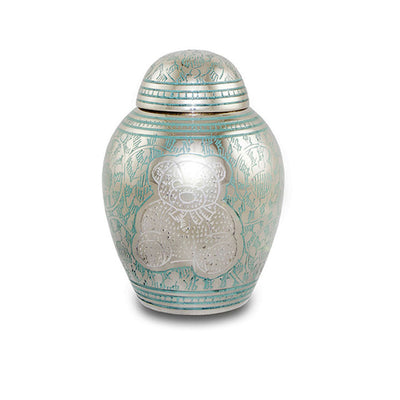 Teddy Bear Cremation Urn for Infants - Blue