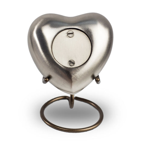 Platinum Cremation Keepsake Heart