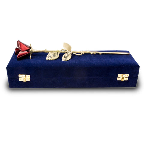 Crimson Rose Stem Cremation Keepsake