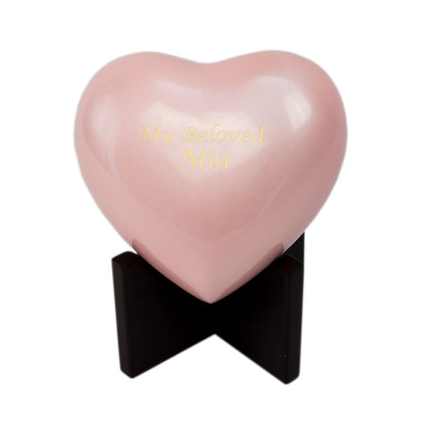 Pink In Our Hearts Infant Cremation Urn
