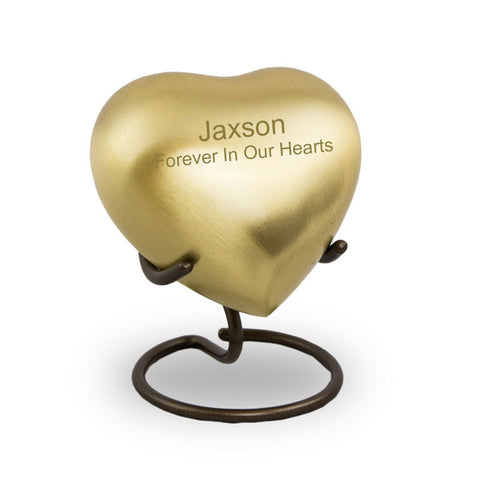 Bronze Heart Cremation Keepsake