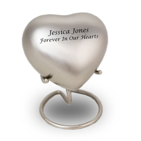 Pewter Cremation Keepsake Heart