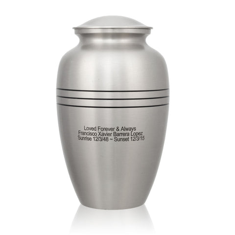Classic Pewter Cremation Urn - Large