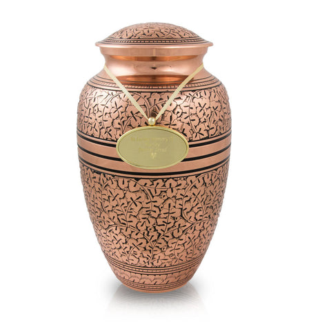 Copper Oak Cremation Urn - Large