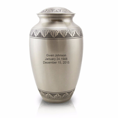 Large Athena Pewter Cremation Urn