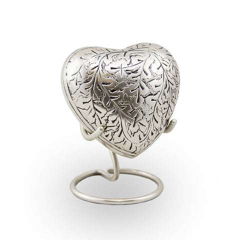 Silver Oak Cremation Keepsake Heart