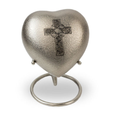 Celtic Cross Cremation Keepsake Heart