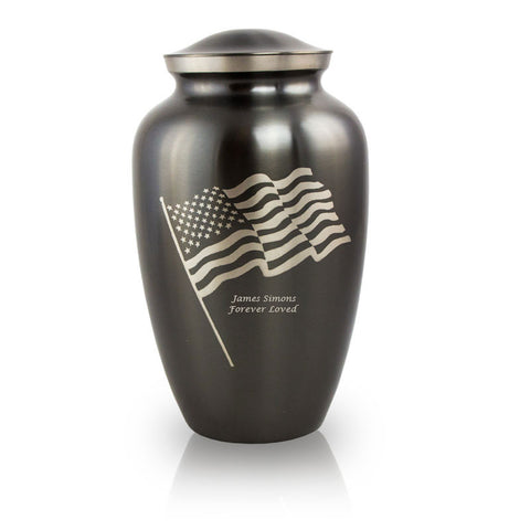 Waving Flag Cremation Urn