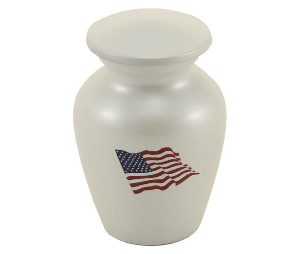 Red, White and Blue Flag Keepsake Urn