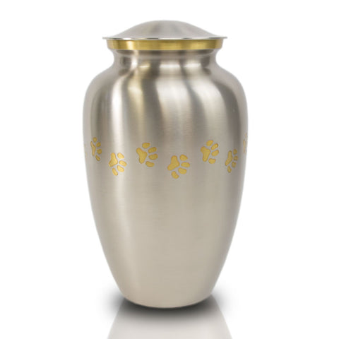 Pewter Paw Cremation Urn - Large