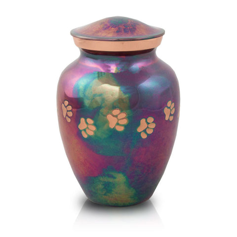Raku Paw Print Medium Pet Cremation Urn