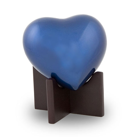 Arielle Heart Cremation Urn - Sky Blue