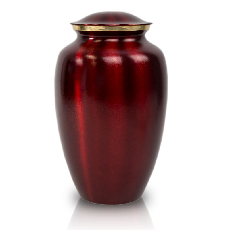 Crimson Red Cremation Urn - Large
