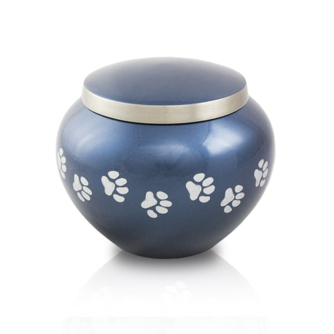 Small Odyssey Pet Urns - Midnight Blue