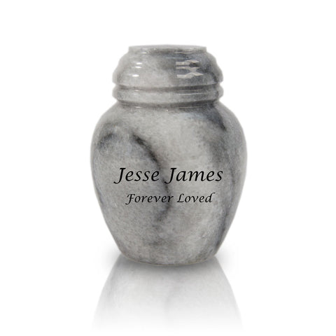 Cloud Gray Marble Cremation Keepsake Urn