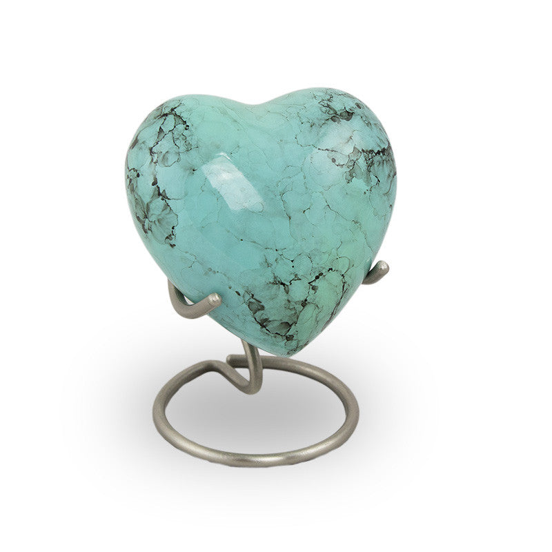 Glenwood Heart Cremation Keepsake - Blue