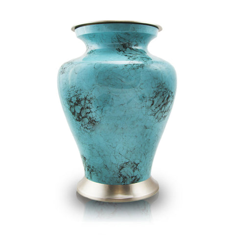 Glenwood Blue Cremation Urn - Large