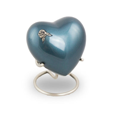 Artisan Heart Cremation Keepsake - Indigo