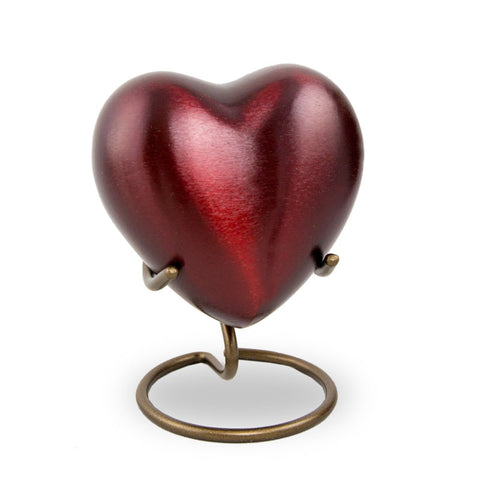 Crimson Heart Cremation Keepsake