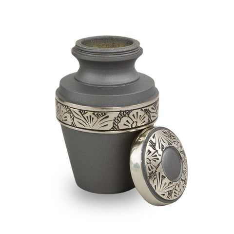 Rustic Pewter Cremation Keepsake