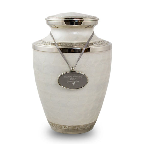 Pearl Enamel Cremation Urn for Ashes