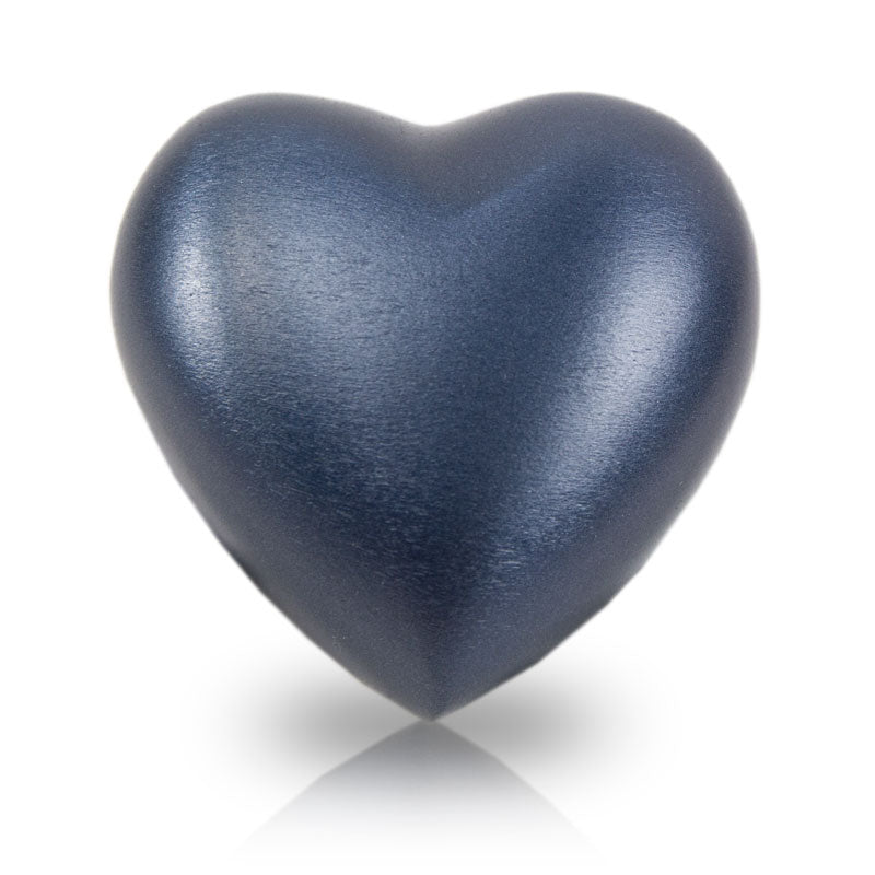 Grecian Blue Cremation Keepsake Heart
