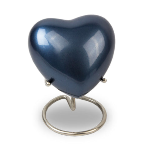 Trinity Blue Cremation Keepsake Heart