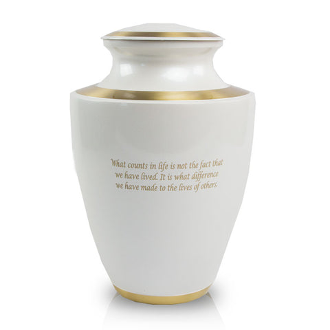 Trinity Pearl Cremation Urn - Large