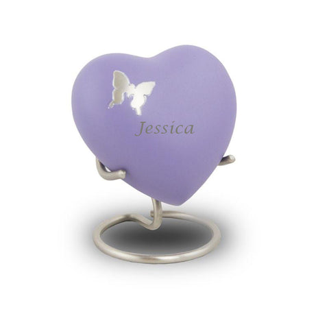Aria Butterfly Heart Cremation Keepsake