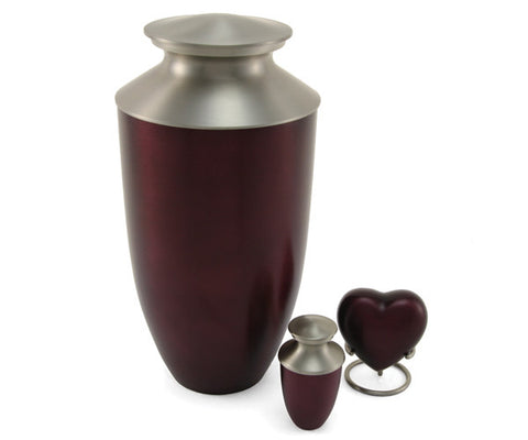 Ruby Red Monterey Bronze Cremation Urn