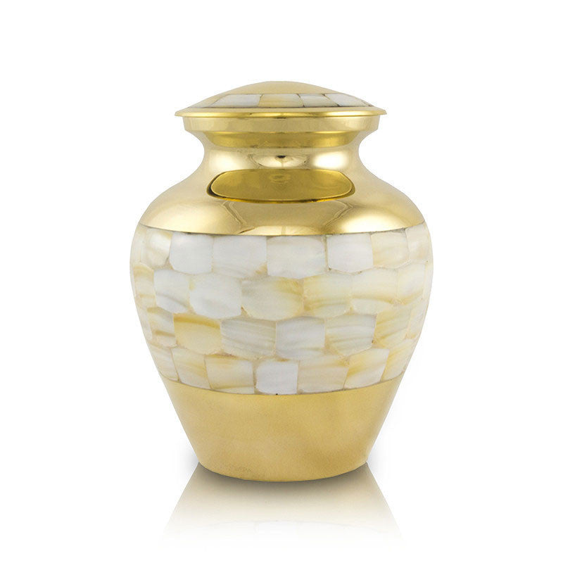 Elite Mother of Pearl Cremation Urn - Small